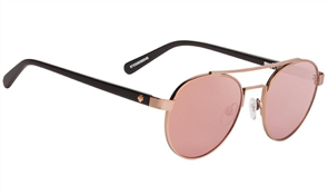 SPY Deco Sunglass, Frame: Matte Rose Gold MatteBlack, Lens: Happy Bronze Rose Quartz Spec