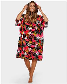 Billabong Womens Hoodie Towel, Tropical