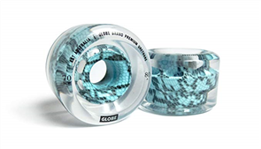 Globe Tropic Slideskate Longboard Wheels, Clear Viper, 70mm
