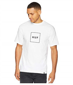 HUF Essentials Box Logo Short Sleeve Tee, White