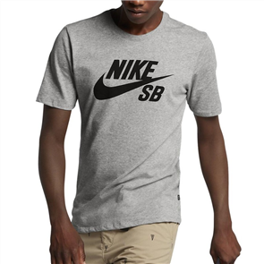 Nike SB Dri-FIT Short Sleeve Tee, DK GREY HEATHER/BLACK