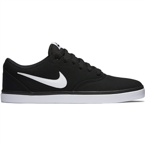 Nike Mens SB Check Solarsoft Canvas Shoe, Black White