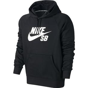 Nike SB Icon Hoodie, Black White