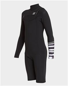 Billabong Boys 2/2mm Revolution Gbs Long Sleeve Spring Suit, Graphite