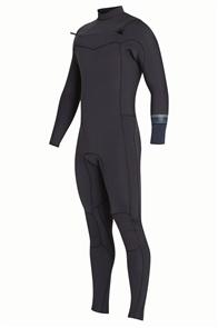 Billabong Boys Revolution Steamer 4/3mm Chest Zip Full Suit, Black Sands