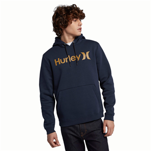 Hurley Surf Check One And Only Hooded Fleece, 451 Obsidian