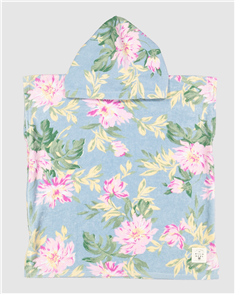 Billabong 100% Cotton Nirvana Toddler Hooded Towel, Blue
