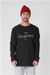 RPM Manufacturing Long Sleeve Tee, Navy