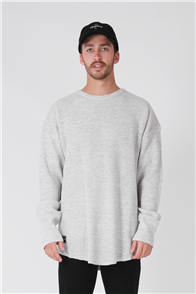 RPM Oversize Knit, Grey Marl