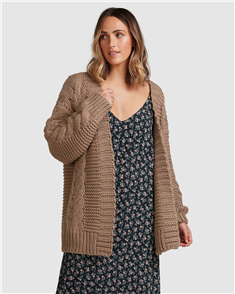 Billabong ITS ME CARDIGAN, TAUPE