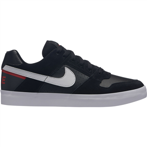 Nike Delta Force Vulc Skateboarding Shoe, Black White Habanero Red