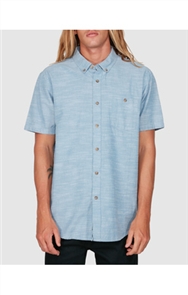 Billabong ALL DAY SHORT SLEEVE SHIRT, POWDER BLUE