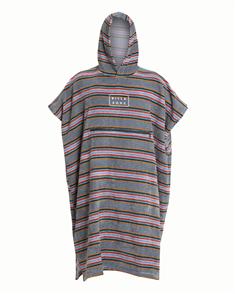 Billabong Hooded Poncho Towel, Slate Blue