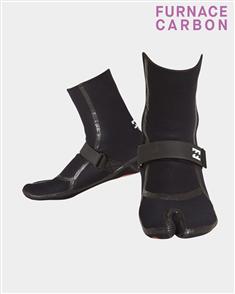Billabong Furnace Carbon X 3mm Split Toe Bootie, Black