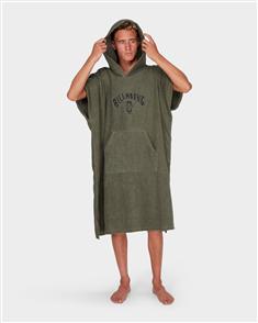 Billabong Mens Hoodie Towel, Military
