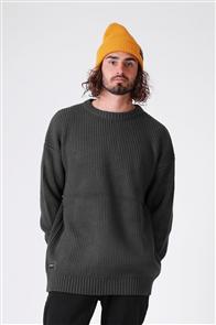 RPM Fisherman Knit Sweater, Dark Green