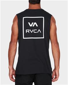RVCA VA ALL THE WAY MUSCLE SINGLET, BLACK