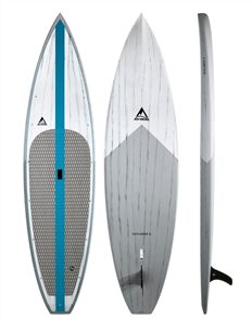 Adventure Paddle Explorer 2 CX Carbon Epoxy Sup, Grey Blue