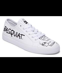 DC X BASQUIAT (JMB) MANUAL SHOE, WHITE/BLACK/WHITE