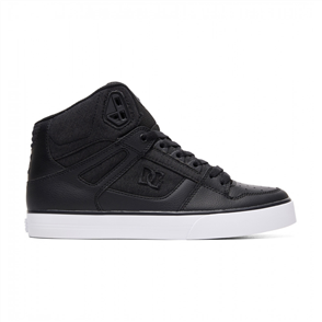 DC Pure High-top WC Mens Shoe, Black Marle