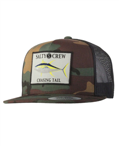 Salty Crew Ahi Patch Trucker, Camo