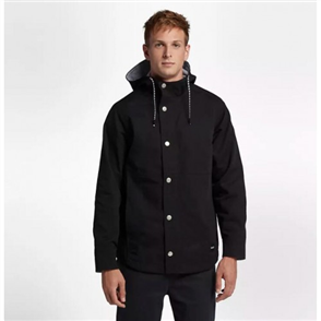 Hurley Mac A Frame Hood Jacket, Black