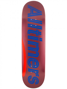 Alltimers MULTI ALT- Shiny Pinks Logo Deck, Size 8.5