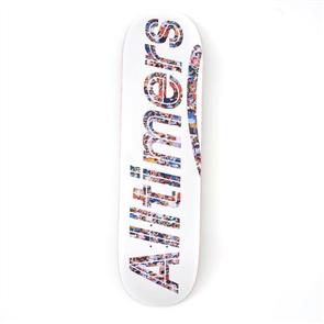 Alltimers WHITE ALT-Crowd Logo Deck, Size 8.3