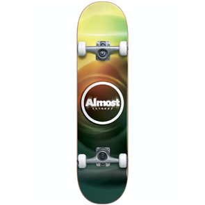 Almost Blur Resin Complete Skateboard, Multi