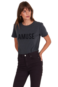 Amuse Iconic Logo Tee, Charcoal