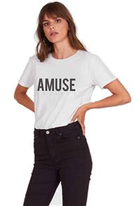 Amuse Iconic Logo Tee, Vintage White