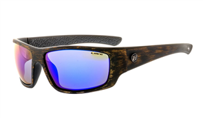 Liive Anchor - Mirror Polarized Sunglasses, Black Wood