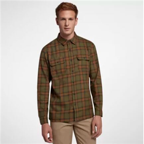 Hurley Dri-Fit Syd Woven Top Long Sleeve Shirt, Olive Canvas