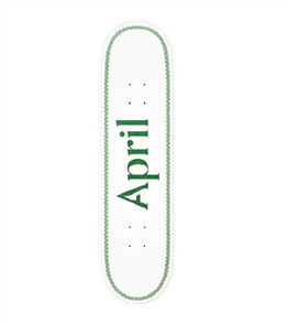 April Skateboards OG Logo Deck, Helix Green