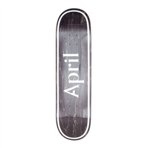 April Skateboards OG Logo Invert, Black, 8.5