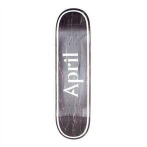 April Skateboards OG Logo Invert, Black, 8.38