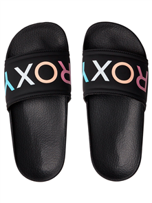 Roxy Girls Slippy G Slide, Black Multi