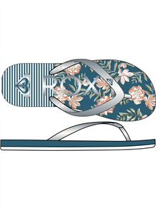 Roxy RG TAHITI GIRLS JANDAL, BAJA BLUE/WHITE