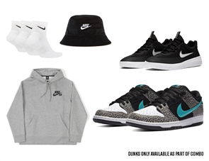 "Nike SB Ultimate Dunk ""Atmos Elephant"" Combo"