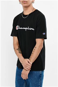 Champion HERITAGE SCRIPT SHORT SLEEVE TEE, BLACK