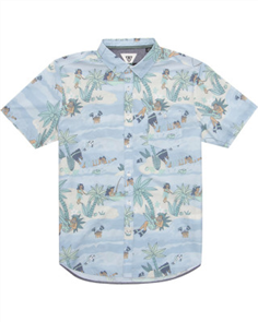 Vissla Da Fin Point Panic Boys Short Sleeve Shirt, PCB