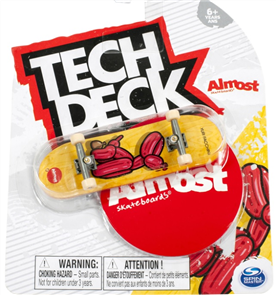 Almost Yuri Facchini Dog Balloon Animal Yellow 96mm Tech Deck Fingerboard