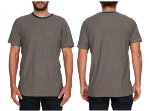 Billabong Delta Crew Tee, Gravel