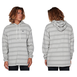 Billabong FLECKER PULLOVER HOODED FLEECE, LIGHT GREY MARLE
