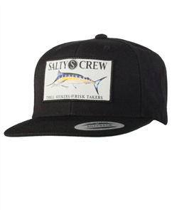 Salty Crew Billfish Patched Hat, Black
