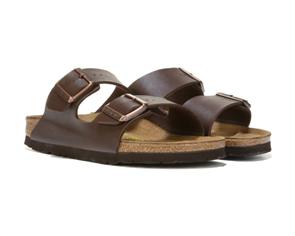 Birkenstock Arizona Birko Flor Narrow Sandal, Dark Brown