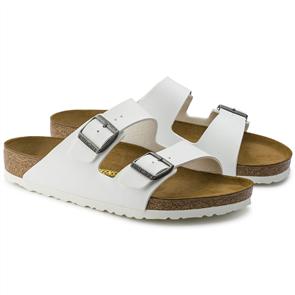 Birkenstock Arizona Birko Flor Narrow Sandal, White