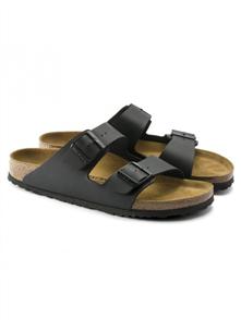 Birkenstock Arizona Birko Flor Regular Sandal, Black