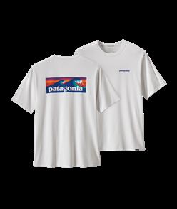 Patagonia Cap Cool Daily Graphic Shirt, Boardshort Logo/White