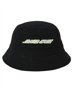 Santa Cruz ELECTRO STRIP BUCKET HAT-YOUTH , BLACK